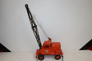 Large Vintage Doepke Model Toys Unit Crane Pressed Steel Metal Toy