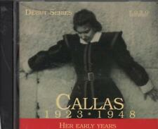 Maria Callas(CD Album)1923-1948: Her Early Years-New