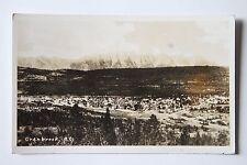 Antique Cranbrook British Columbia Real Photo Postcard RPPC City Overlook BC