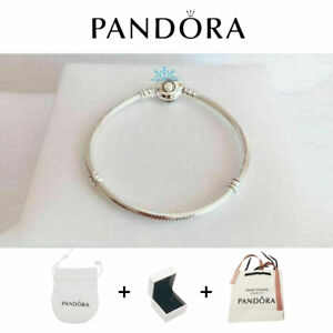New Genuine Pandora S925 Silver Moments Heart Clasp Charm Bracelet UK STOCK+BOX