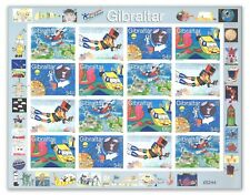 GIBRALTAR 2000 Stamping the Future Sheetlet Of 16 Stamps Mint Unhinged MUH