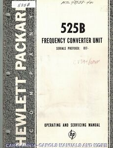 HP Manual 525B FREQUENCY CONVERTER UNIT