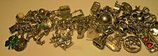 37 Charm original Disneyland Castle Heavy Vintage Sterling Silver Charm Bracelet