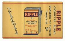 1930's Ripple Tobacco Cigarette Papers Label