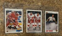 (3) Sergei Fedorov 1990-91 Upper Deck French Rookie Card lot RC HOF 1991-92