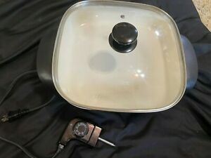 Oster Electric Skillet Used  Model ~ ckstskfm12w- Clean Very Good WORKS