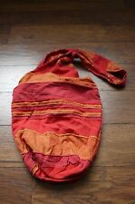 COTTON HOBO CROSS BODY BAG HIPPIE BOHEMIAN PURSE orange red stripes