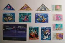 Maldives Space stamp lot, Disney, UFOs, satellites, astronauts - MNH + Bonus