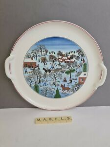 VILLEROY & BOCH  ~NAIF CHRISTMAS~ round platter