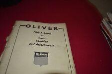Oliver Tractor 35 Combine Dealer's Parts Book Manual BVPA