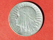"Repubblica di Polonia Poland 10 zloty 1932 ""Regina Jadwiga"" ARGENTO MONETA"