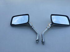 BRAND NEW CHROME E-MARKED RECTANGULAR Mirrors FOR HONDA  CM 125 82-86