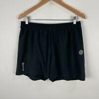 Skins Mens Shorts Large Slim Fit Black Elastic Waist Drawstring