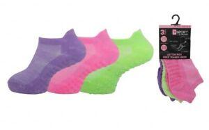 Childrens Trainer Socks Girls Kids Non Slip Gripper Sole School Sportswear