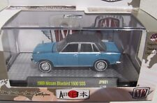M2 MACHINES AUTO-JAPAN R1 1969 NISSAN BLUEBIRD 1600 SSS 17-68 BLUE W/BLACK ROOF