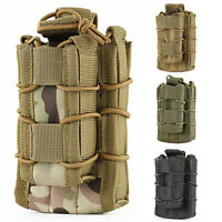 Tactical Nylon Molle Double Pockets Open Top Pistol Magazine-Mag Pouch Bags