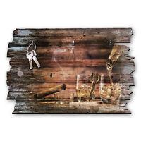 Whisky Zigarre Schlüsselbrett Hakenleiste Landhaus Shabby chic aus Holz 30x20cm