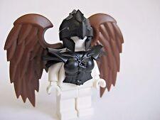 Custom HARPY Black Armor, Helmet & Brown Wings for Lego Minifigures