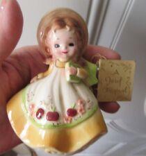 "Vintage Josef Originals Sept. Birthday Girl Figurine, Japan w tag 4"" 1974"