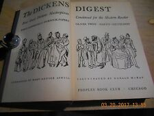 *The Dickens Digest - 4 Great Masterpieces Condensed For The Modern Reader - HB
