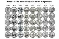 6 2010-2015 National Park Quarters SET D 30 Quarters COMPLETE SIX YEAR SET