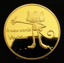 Rio 2016 Olympic Mascot & Christ Redeemer Statue Commemorative Coin Token