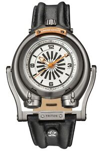 Gv2 By Gevril Men's 3404 Triton Automatic Limited Edition Black Leather Watch