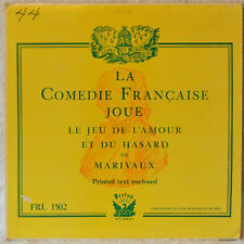 La Comedie Francaise Joue Le Jew de L'Amour French Comedy LP & Text EX Vinyl