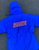 Vintage 90's NFL New York Giants Blue Puffer Jacket Size Large