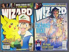 Wizard Comics Magazine #96A August 1999 & #122B November 2001 Pokemon Fathom VF