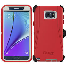 OtterBox Defender Series Case for Samsung Galaxy Note 5andHolster White Red