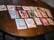 Twenty Assorted Greeting Cards w / Envelope , Birthday Thinking of You, Misc