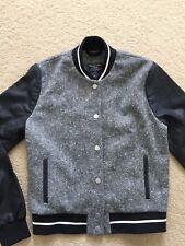 NWT Abercrombie&Fitch Womens Varsity Jacket Grey Size Small