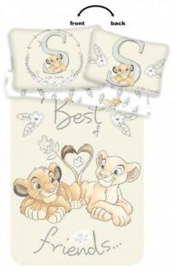 Lion King Simba Sunning Bedding Duvet Cover & Pillow case Toddler Cot Bed