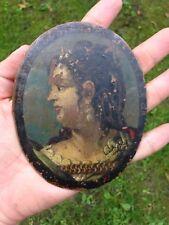 Rare Peinture Italienne Sur cuivre 17eme 17th XVII Haute Époque Domitia Huile