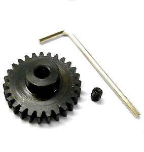 M1 Module 1 1M 27T 27 Teeth Tooth Motor Pinion Gear Black 1/8 540 5mm Mod 1 RC