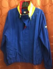 M Vintage 1990s TOMMY HILFIGER Collar Spell Out SAILING JACKET Unused Condition