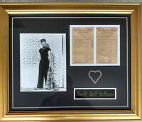 Lucille Ball I LOVE LUCY Framed Photo With  Home Grocery Bill's from 1954