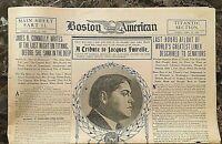 "ORIGINAL- RMS TITANIC "" TITANIC SECTION "" of the BOSTON AMERICAN NEWSPAPER c1912"