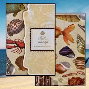 Anna Griffin Vintage SEA LIFE 3D Sticker Folio w/50 Dimensional Stickers NEW