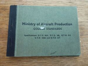 WW2 ORIGINAL MINISTRY AIRCRAFT PRODUCTION RAF AIRCRAFT COLOUR STANDARDS BOOKLET
