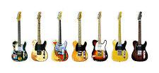 Telecaster Guitar Panorama Print. 7 Famous Fender Telecasters