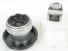 Zeiss Contarex Biogon 4,5/21 21mm 1:4,5 + Sucher + Plexidose Zubehörpaket schön