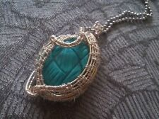 Turquoise Copper Oval Costume Necklaces & Pendants
