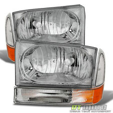 1999-2004 F250 F350 F450 Superduty Excursion Headlights Headlamps Set Left+Right