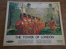 BEEFEATERS TOWER of LONDON British Railways Poster Advertisement Rail
