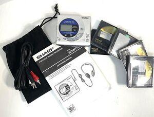Sharp MD-MS702 Minidisc Player Recorder 5 Discs TOC ERRORa *Read  Description!