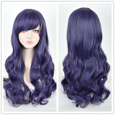 Love Live! Nozomi Tojo Cosplay Wig Long Two Braids Dark Purple Hair Wigs