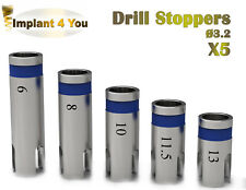 5 X Dental Implant STOPPERS Ø 3.2 For Drills Surgery Instrument dentalist