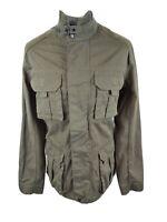 Mens Orvis Military Field Jacket Green Medium 42 Chest